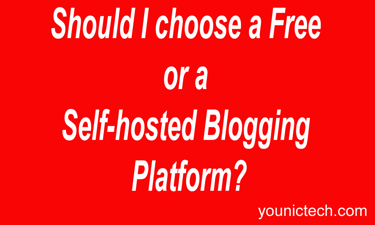 Should I choose a Free or a self-hosted blogging platform